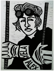 Alexandra Limpert Linocut Print on Paper 9X12 inches