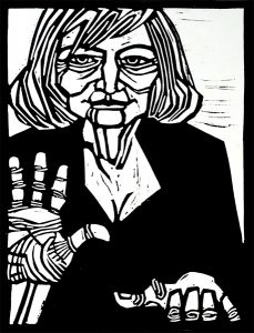 Henrietta Mantooth 9X12 inches Linocut Print on Paper