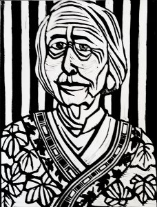 Nathalie Barney 9X12 inches Linocut Print on Paper