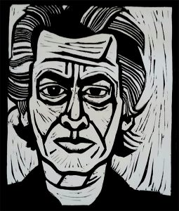 Richard Avedon 8X12 inches Linocut Print on Paper